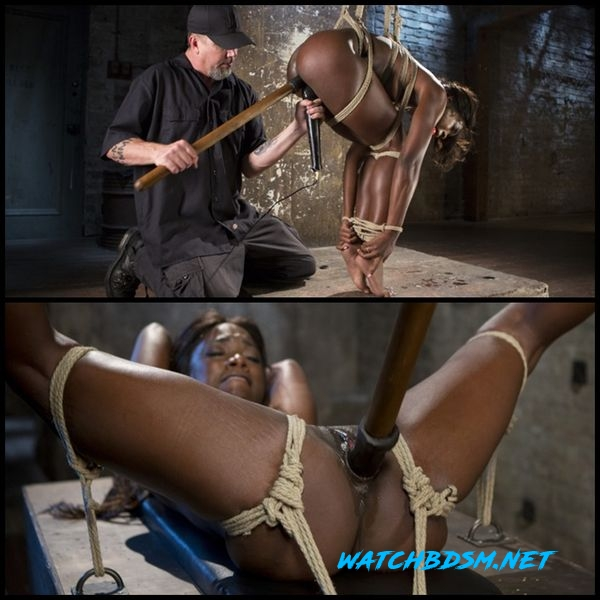 Stunning Ebony Slut in Brutal Bondage and Tormented - HD