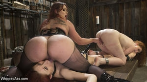 Bella Rossi, Violet Monroe and Emma Heart - HD - WHIPPED ASS