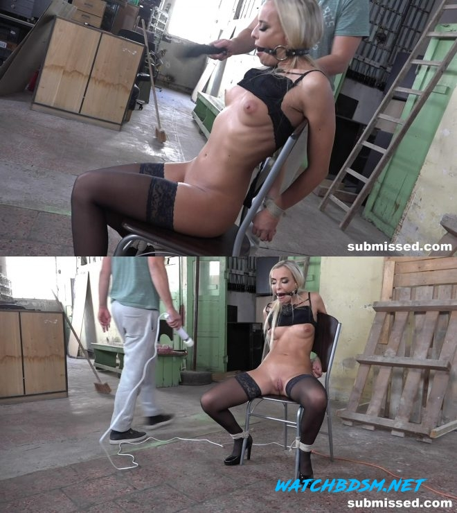 Blonde Victoria - Pure Tormented and Vibed - FullHD - Ball Gagger