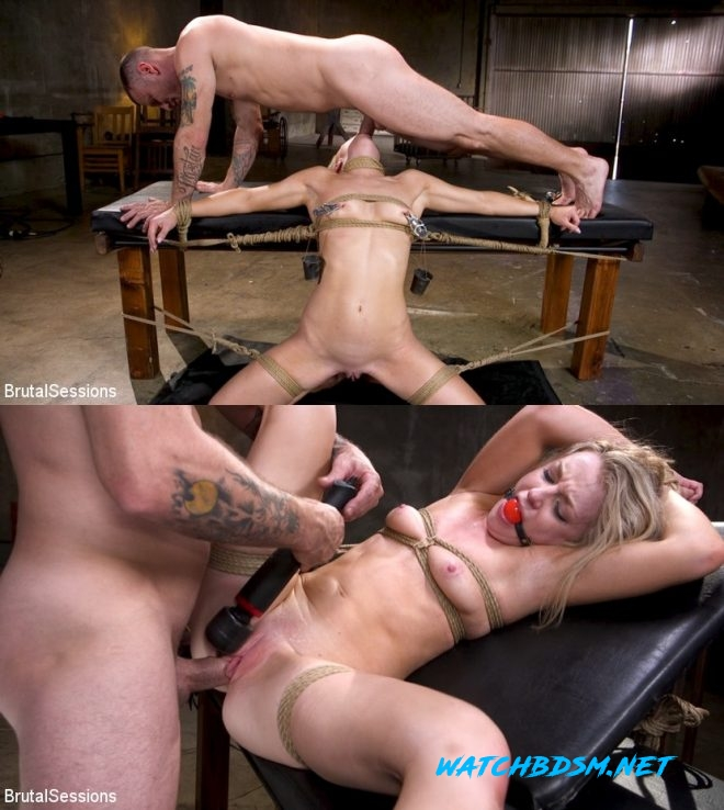 Mr. Pete, Kate Kennedy - Girl Next Door Kate Kennedy Tied in Rope Bondage and Fucked - HD - BRUTAL SESSIONS