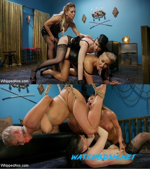 Ryan Keely, Lydia Black, Cherie DeVille - Playthings: Ryan Keely & Lydia Black Are Cherie DeVille's Willing Toys - HD - WHIPPED ASS