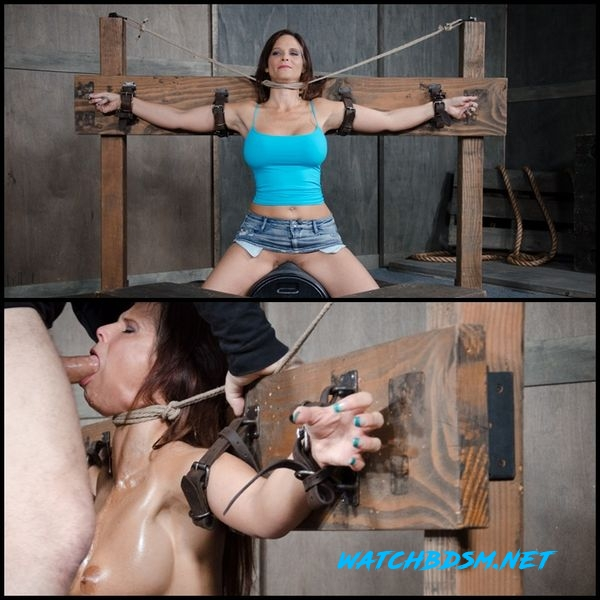 Syren De Mer experiences her most brutal sex scene ever. Neck bound, face fucked on a sybian - HD
