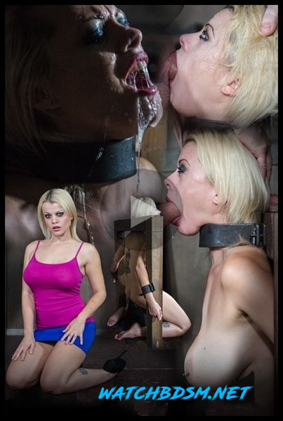 Nadia White is severely bound in metal, completely helpless on a sybian. Brutal throat boarding! - HD