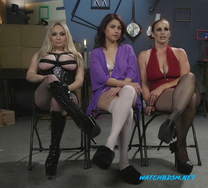 Aiden Starr, Bella Rossi, Penelope Reed - Dominating Dreams: First Time Kink Model is Tag-Teamed by Horny Lesbos - HD - Kink
