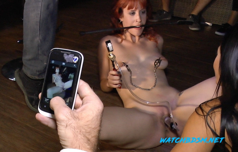 Lilyan Red, Sandra Romain, Steve Holmes - Redheaded slut beautifully disgraced on streets of Madrid - SD - Kink