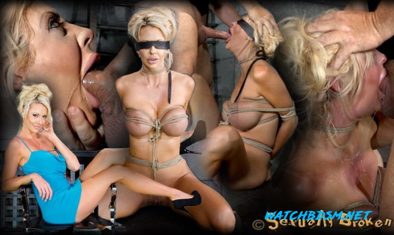 Courtney Taylor - Big titted blonde Courtney Taylor bound blindfolded and facefucked, epic drooling deepthroating! - HD - SexuallyBroken