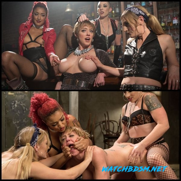 All Girl Gangbang at the Dyke Bar - HD