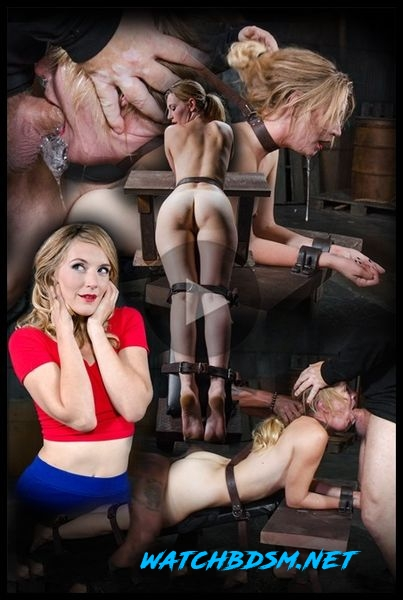 Beautiful Mona Wales belt bound, shackled and throat trained into a drooling mess with epic fucking! - HD