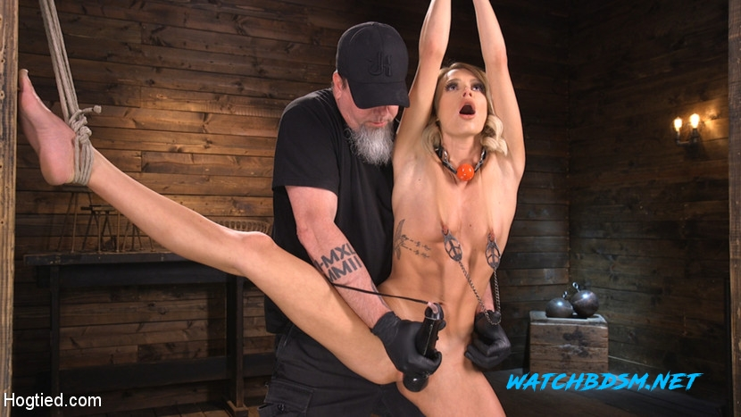 Emma Hix - Hard Fucked in the Pussy BDSM - HD - Hogtied